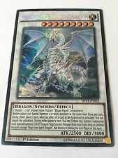 YUGIOH BLUE EYES SPIRIT DRAGON SECRET NEAR MINT MIXED EDITION SHVI EN052