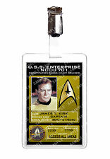 Star Trek Original Series James T Kirk ID Sc fi Badge Cosplay Costume Christmas