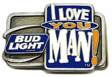 Bud Light Beer Belt Buckle Budweiser Authentic Officially Licensed Product