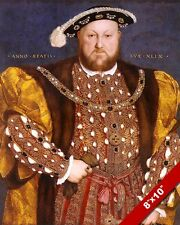 KING HENRY THE 8TH VIII OF ENGLAND ROMAN PAINTING ROME ART REAL CANVAS PRINT