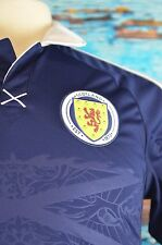 Adidas Polo Shirt Men's Size Small Blue Scotland Crest Clima Cool Soccer Sports