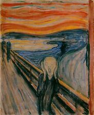 """The Scream by Edvard Munch (later version), 8""""x10"""", Giclee Canvas Print"""