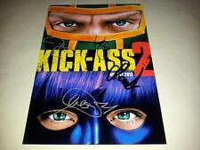 "KICK ASS 2 PP SIGNED 12""X8"" POSTER JIM CAREY CHLOE MORETZ"