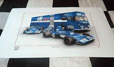 Tyrrell 003 Jackie Stewart Francois cervert Transporter F1 Nueva Pintura impresión 73