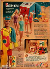 1972 ADVERT 5 PG Sun Set Malibu Barbie Ken Mountain Cabin Doll Dolls Live Action