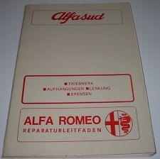 Werkstatthandbuch Alfa Romeo Alfasud Triebwerk Aufhängung Lenkung Bremsen 1974!