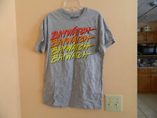 "NWT GAP mens licensed short sleeve ""BAY WATCH"" t-shirt in heather gray, sz XS"
