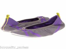 NEW Puma Axel Ballet Slip On Ballerina Shoe 9 Gray Purple FREE EXPEDITED MAIL