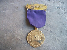vintage 1950 San Mateo Kennel Club Membership Judge Medal badge pin California