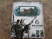 NEW Sony PSP 3000 Metal Gear Solid: Peace Walker Entertainment Pack Green System