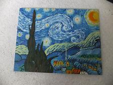 """Alessi Angelis Ölgemälde """"Sternennacht"""" nach Vincent van Gogh auf Keilrahmen"""