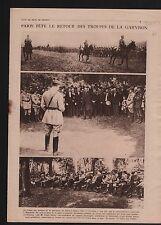 Parc de Bagatelle bois Boulogne Paris Général Pierre Berdoulat 1919 ILLUSTRATION