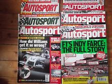6 Autosport magazines le mans report issues 2002-2006 & 2012