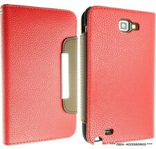 FOR SAMSUNG GALAXY NOTE 1 I9220 N7000 LEATHER CASE COVER WALLET POUCH FLIP BACK