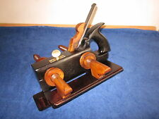 Vintage Antique Brazilian Rosewood, Steel & Brass Plow Plane in Excellent Cond.