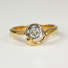 Ring 750 Gold mit 1 Brillant 0,28 ct. w.P1