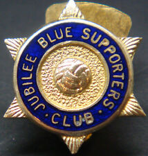 LINFIELD FC Very rare JUBILEE BLUE SUPPORTERS CLUB Badge Button hole 19mm x 22mm