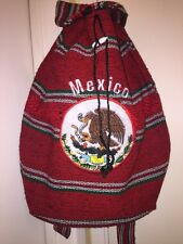Mexican Backpack Handmade Indian Bag Soccer Tote  Mexico National Team
