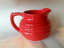 RADIOACTIVE RED RINGWARE BAUER DESIGN PITCHER for ART DECO MID CENTURY MODERN