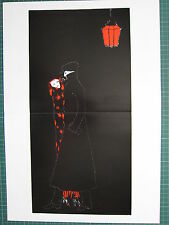 1987 ART NOUVEAU PRINT ~ COUPLE UNDER RED LANTERN ~ ALASTAIR HANS HENNING VOIGT