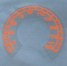 Tachoaufkleber Km/h für Harley Davidson Road King 1995-2003 Neon Orange
