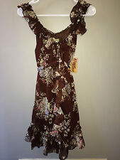 Moon Collection size small brown flowy dress live in California woman's NWT