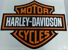 harley davidson motorcycle bike Trailer HD garage Huge decal sticker Door Shop