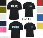 POLICE T-SHIRT Sheriff Event Bouncer Party Guard Police Shirt Tee S-4XL