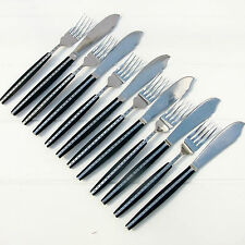 Vintage Retro Holland Cutlery Stainless Set Fish Eaters Knives Forks