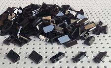 Lego Black 1x2 2/3 Slope Brick Cheese Wedge (85984) x25 in a set *BRAND NEW*