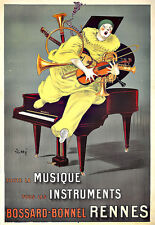 Art Ad Bossard Bonnel  Rennes Musical intruments Violin Piano Deco Poster Print