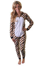 Adult Tiger Onesie with Hood by Waites Lingerie Size X-Large Pyjamas Sleepsuit