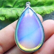A0092013 Beautiful Wire Wrap Opal Opalite Teardrop Pendant Bead