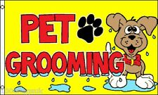 Pet Dog Cat Grooming Mobile Van Shop Sign Advertising POS 5'x3' Flag !