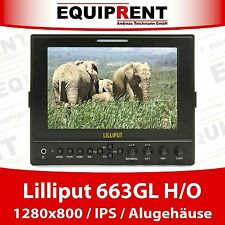"Lilliput 663 H/o 18cm/7"" IPS 1280x800 HDMI IN/OUT Monitor + alloggiamento in metallo eq511"