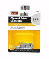 2 x Prestige FIGURE 8 TABLE CONNECTOR Easy Installation 29mmx17mm, 4pcs