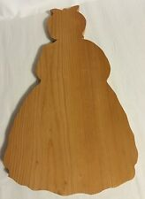 Vintage Kitchenware Wood Mammy Shaped Cutting Board 15""