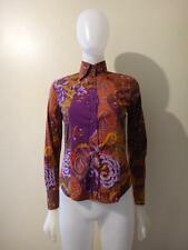 ETRO Women's Multi-Color Paisley Print Button Down Fitted Shirt Size 2/38