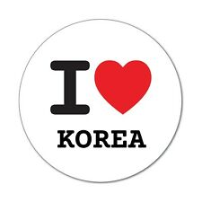 I love KOREA - Aufkleber Sticker Decal - 6cm