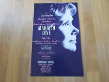 Susan HAMPSHIRE in MARRIED Love by Peter LUKE Original WYNDHAMS Theatre Poster