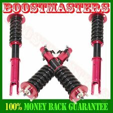 New 90-97 Honda Accord COILOVER STRUT SHOCK SUSPENSION KIT RED