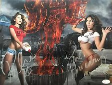BRITTNEY PALMER ARIANNY CELESTE DUAL SIGNED 11X14 UFC RING GIRLS PROOF JSA COA 2
