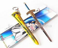 Anime Fate Stay Night Saber Excalibur Sword of Victory Keychain Metal Toy C#