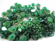 LOT OF 105 GREEN COLOR 1/2 INCH SHANK BUTTONS, NEW