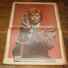 DISC 3 NOVEMBER 1973 DAVID BOWIE FULL COLOUR POSTER OSMONDS EAGLES NEIL YOUNG