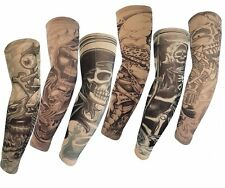 6 Pcs  Fake Nylon Temporary Tattoo Sleeves Arm Stockings For Cosplay Party