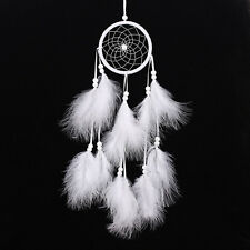 Beautiful White Large Dream Catcher With Feathers Wall Hanging Decor Ornament