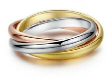 RUSSIAN TRIPLE WEDDING RING 18K YELLOW GOLD, ROSE GOLD, PLATINUM: L, M, N, O, Q