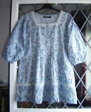 *Gudrun Sjoden* Sleeping Beauty organic cotton smock top M 38""