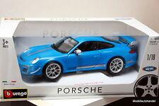 Burago - Porsche 911 ( 997 ) GT3 RS 4.0 - blue - 1:18 Bburago